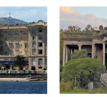La belleza de Piriápolis contrapuesta con la decadencia del palacio Castells de Punta Lara.
