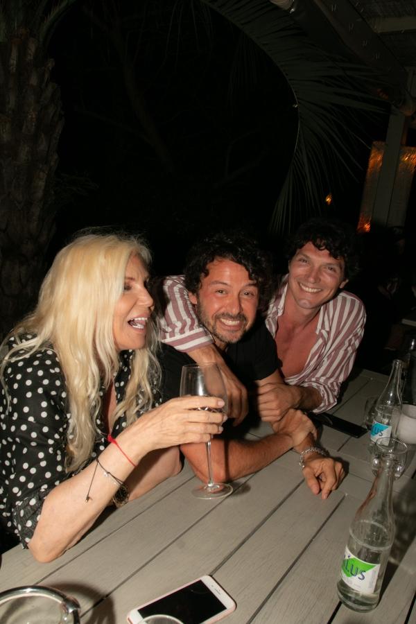 Susana Giménez, Wally Diamante y Facundo Garayalde en la apertura de Fabric José Ignacio