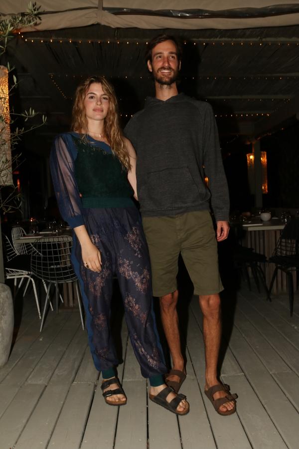 Chiara Parravicini y Gerónimo Tanoira en la apertura de Fabric José Ignacio