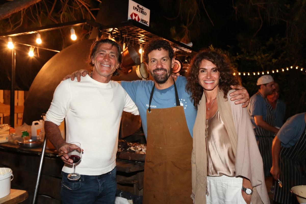 Nicolás Repetto y Florencia Raggi disfrutaron del programa Mundo Epicúreo de HSBC en Punta del Este en el restaurante Marismo