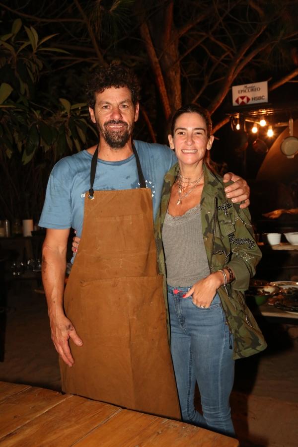 El chef Federico Desseno junto a Puli Demaría en el programa gastronómico Mundo Epicúreo de HSBC en el restaurante Marismo de Punta del Este