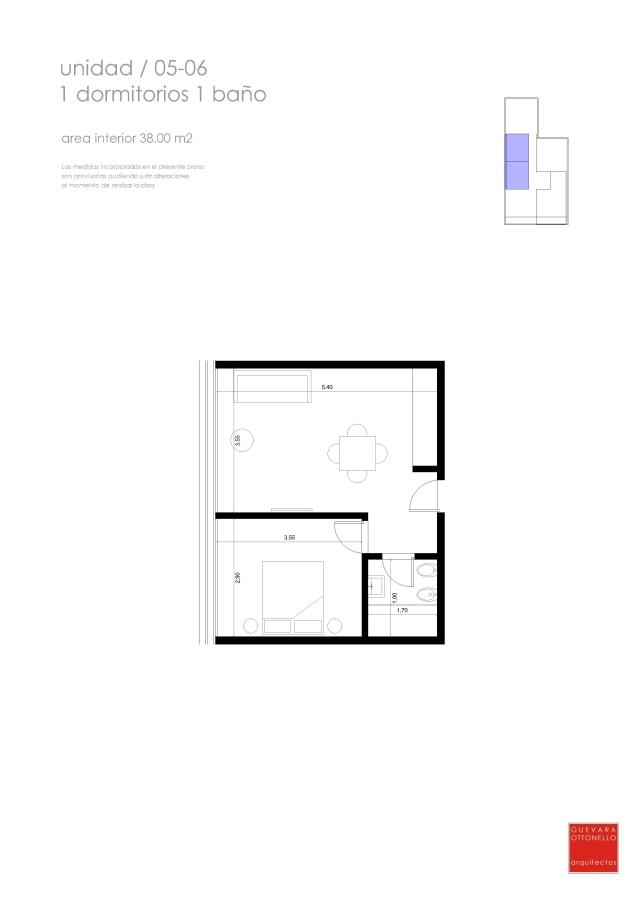 Plano 1 dormitorio