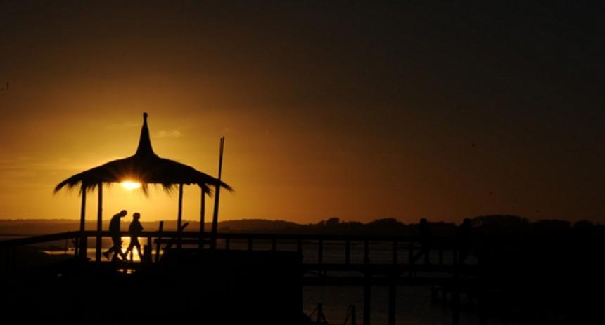Atardecer desde la Glorieta de Punta del Este